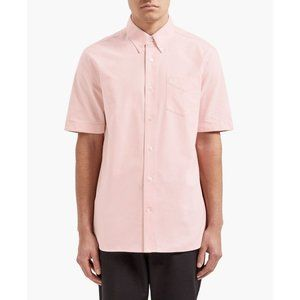 Fred Perry Short Sleeve Oxford Shirt In Pink.